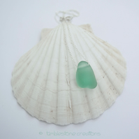 Welsh Sea Glass and Sterling Silver Necklace