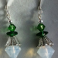 Sparkly Swarovski crystal snowdrop earrings with sterling silver earwires