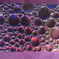 Abstract Bubbles Greetings Card.