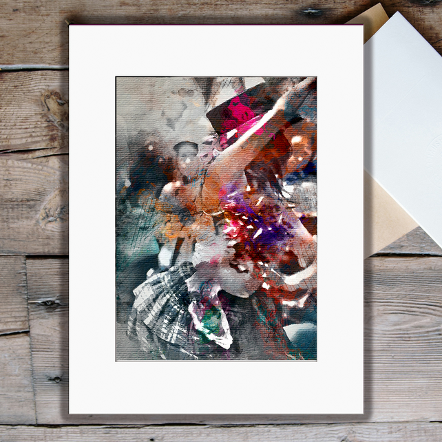 May Day celebrations: A4 fine art print
