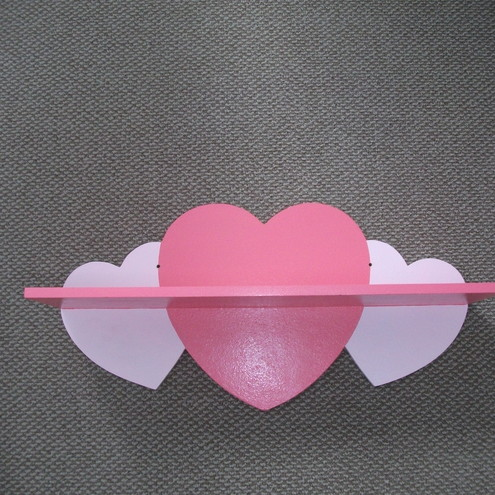 Heart Shelf - Dark Pink and Light Pink