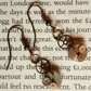 Steampunk clockwork earring
