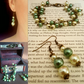 Beaded Steampunk earring and bracelet set