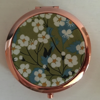 Liberty of London Fabric Print Compact Mirror - beautiful - hen party gift?