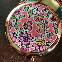 Liberty of London Fabric Print Compact Mirror - gift for wedding