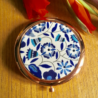 Liberty of London Fabric Print Compact Mirror - birthday gift?
