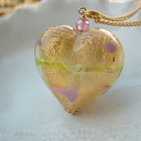 Large Gold Murano Glass Necklace