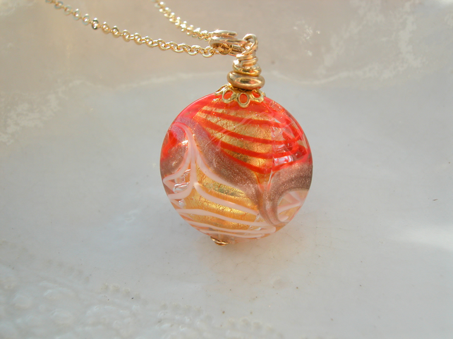 Murano Glass Pavone Necklace