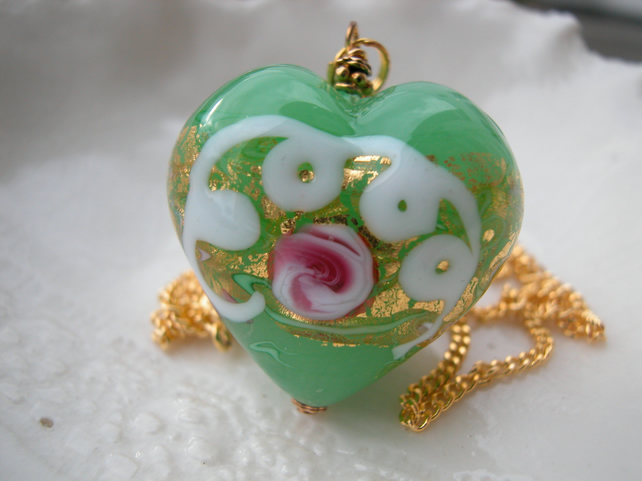 Venetian Murano Glass Wedding Cake Necklace