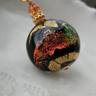 Dichroic Murano Glass Necklace