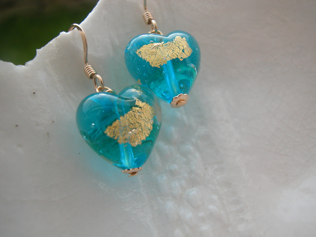 Murano Glass Abstract Earrings