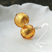 Topaz Murano Glass Earrings