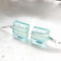 Murano Blue Glass Earrings