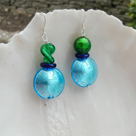 Quirky Murano Glass Earrings