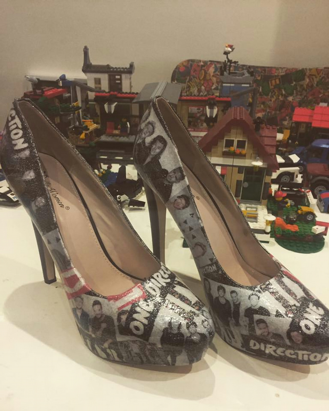 One Direction Custom Shoes