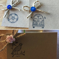 Vintage or Rustic Place Cards