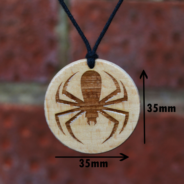 Free Shipping-Brown Spider, Spidermen- Pendant,Necklace, Handmade Gift.