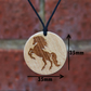Free Shipping-Brown Horse Pendant,Necklace, Handmade Gift.