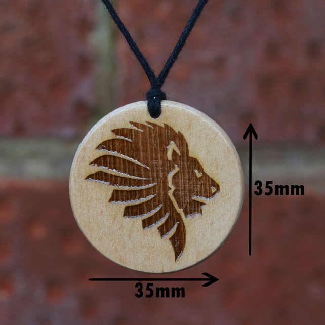Free Shipping-King Lion Pendant Necklace, Handmade Gift.