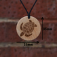 Free Shipping-Brown Turtle Pendant Necklace, Handmade Gift. Amulet-Talisman.