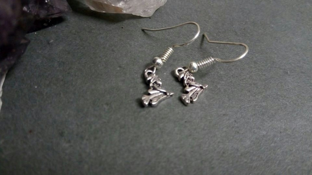 Witch On Broom Earrings