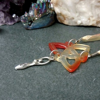 Carnelian Triquetra and Goddess Necklace