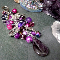 Fairy and Amethyst Bag Charm