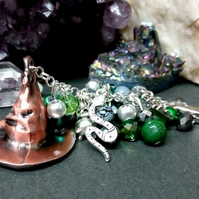 Slytherin Sorting Hat Bag Charm