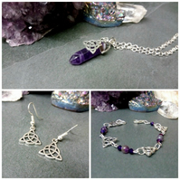 Triquetra and Amethyst Gift Set