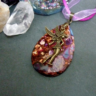 Sea Sediment Jasper, Bronzite and Fairy Necklace