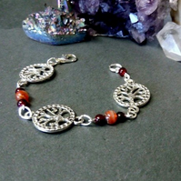 Tree of Life and Carnelian Bracelet