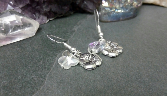 Flower and Butterfly Earrings