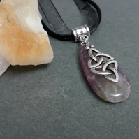Amethyst and Triquetra Necklace