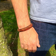 mens leather cuff bracelet,father's Day gifts,men's leather bracelet