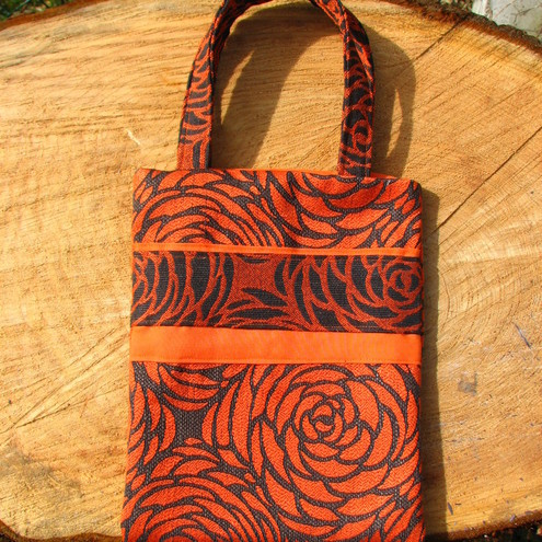 Retro Orange Bloom Bag