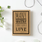 Many Waters.  Christian Wedding Card.  Christian Engagement Card.