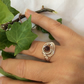 Silver Filled Wire Wrapped Ring with Natural Semi-precious Stone