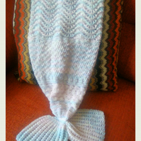 Baby Lace Mermaid Tail Blanket
