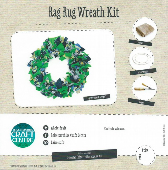 Rag Rug Wreath Kit - Folksy