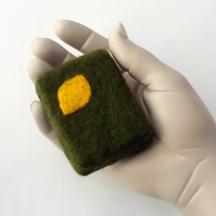 Felted soap Cedar and Lemon felt wrapped luxury soap bar bath size
