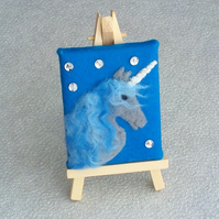 Felt picture starry unicorn miniature artwork gifts for girls