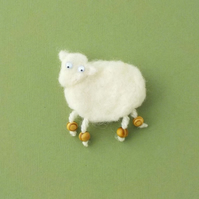 Sheep felt fridge magnet