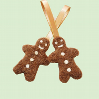 Gingerbread Christmas tree decoration felt ornament