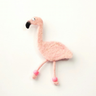 Felt fridge magnet pink flamingo