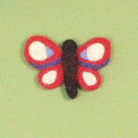 Felt fridge magnet pink butterfly