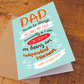 Thanks for helping Father's Day Card, For Dad, For Step-Dad, Funny Father's day