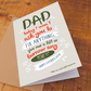 Relax Dad Funny Father's Day Card, For Dad, For Step-Dad, Funny Father's day