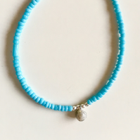 'Little Drop of Joy' bracelet - Turquoise and Granite