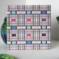 Stripe Pattern Ceramic Tile Trivet with Cork Backing