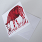 Okapi Blank Greeting Card - 15 x 15cm